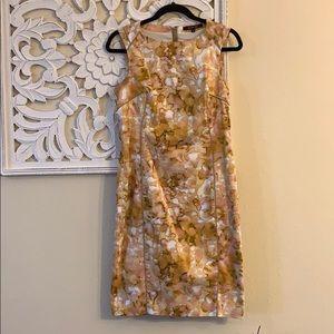 Rachel Roy Yellow Printed Sheath Dress